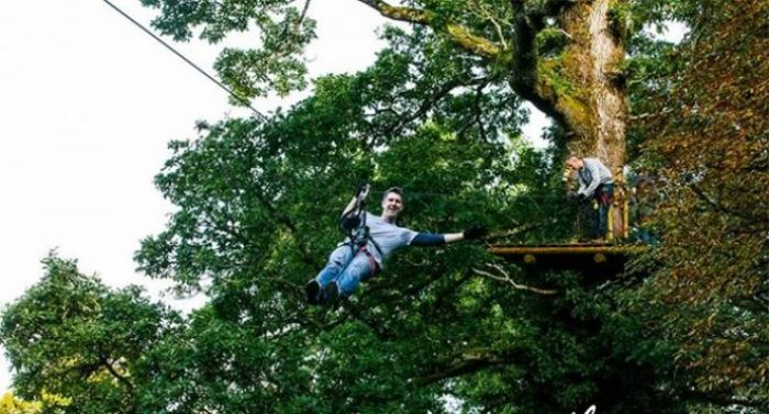 Do you want to zipline through the trees in Lough Key forest park?